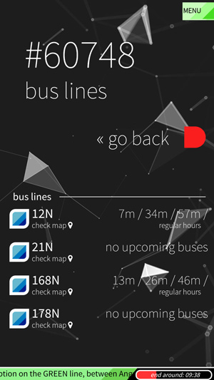bus nearest bus lines info