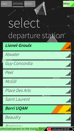 stations select stations / network